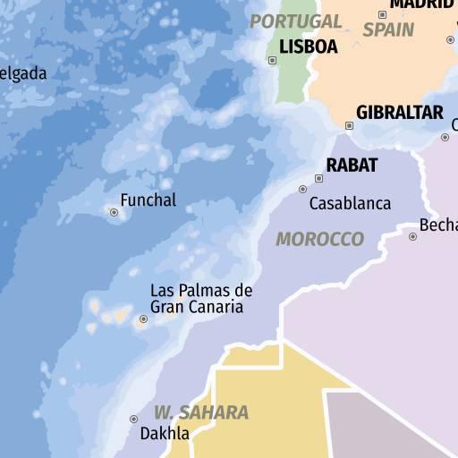 Karte Gibraltar Umgebung.Stadtplan Download